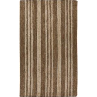 Hand-Woven Geoffrey Stripe Pattern Jute Area Rug (8' x 11')