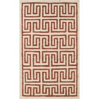 Hand-Woven Gilberto Geometric Pattern Jute Rug (8' x 11')