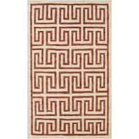 Hand-Woven Gilberto Geometric Pattern Jute Area Rug - 8' x 11'