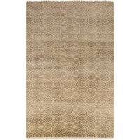 "Hand-Knotted Sylvia Floral New Zealand Wool Area Rug - 5'6"" x 8'6"""