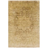Hand-Knotted Stefan Floral New Zealand Wool Area Rug - Multi - 5'6 x 8'6'