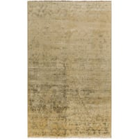 Hand-Knotted Stacey Paisley New Zealand Wool Area Rug - 5'6 x 8'6'