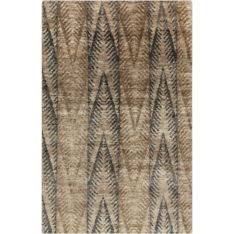 Hand-Knotted Nell Ikat Pattern Hemp Area Rug - 8' x 11'