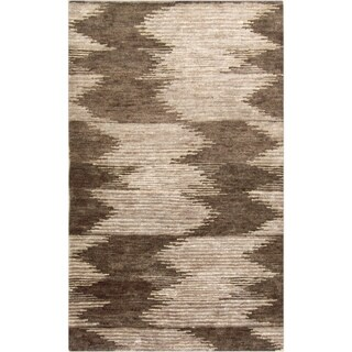 Hand-Knotted Mina Ikat Pattern Hemp Area Rug - Multicolored - 8' x 11'