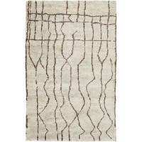 Hand-Knotted Ross Abstract Pattern Hemp Area Rug (5' x 8') - 5' x 8'
