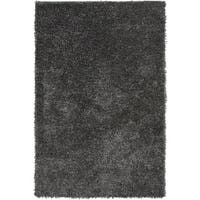 Hand-Woven Mark Solid Pattern Cotton Area Rug - 5' x 8'