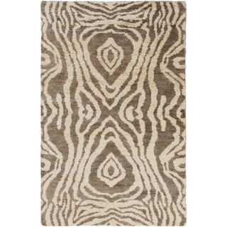 Hand-Knotted Roth Abstract Pattern Hemp Rug (3'3 x 5'3)