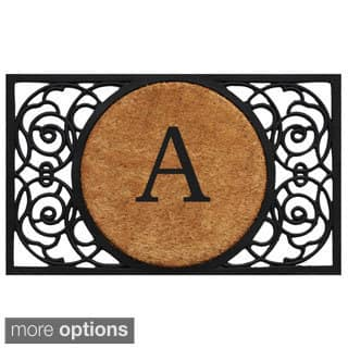 Armada Circle Monogram Doormat (1'6 x 2'6)|https://ak1.ostkcdn.com/images/products/9912775/P17070944.jpg?impolicy=medium