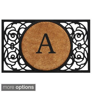 Armada Circle Monogram Doormat (1'6 x 2'6)