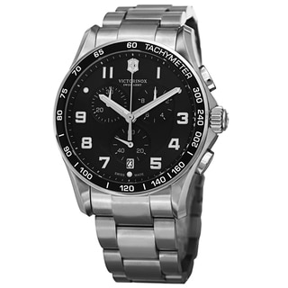 Swiss Army Men's V241650 'Chrono Classic' Black Dial Stainless Steel Quartz Watch