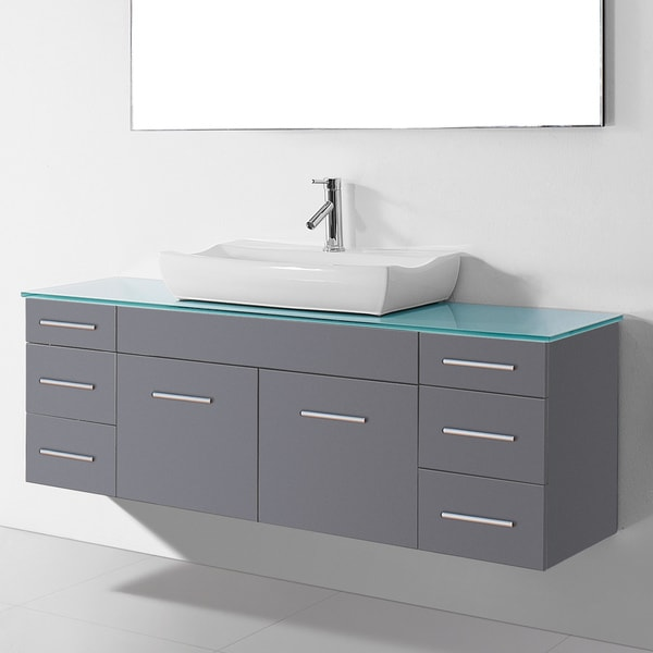 Charming Tiled Baths Showers Huge Tall Bathroom Vanity Height Shaped Italian Bathroom Design Ideas Clean Bathroom Sink Drain Trap Old Kitchen Bath Design Center Bedford GrayBathroom Fitting Costs Homebase Virtu USA Biagio 56 Inch Single Bathroom Vanity Cabinet Set In ..