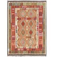 Handmade Herat Oriental Afghan Tribal Wool Kilim  - 5'8 x 7'8 (Afghanistan)