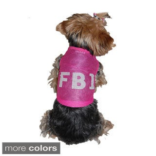 ANIMA Cotton Mesh FBI Print Dog Shirt