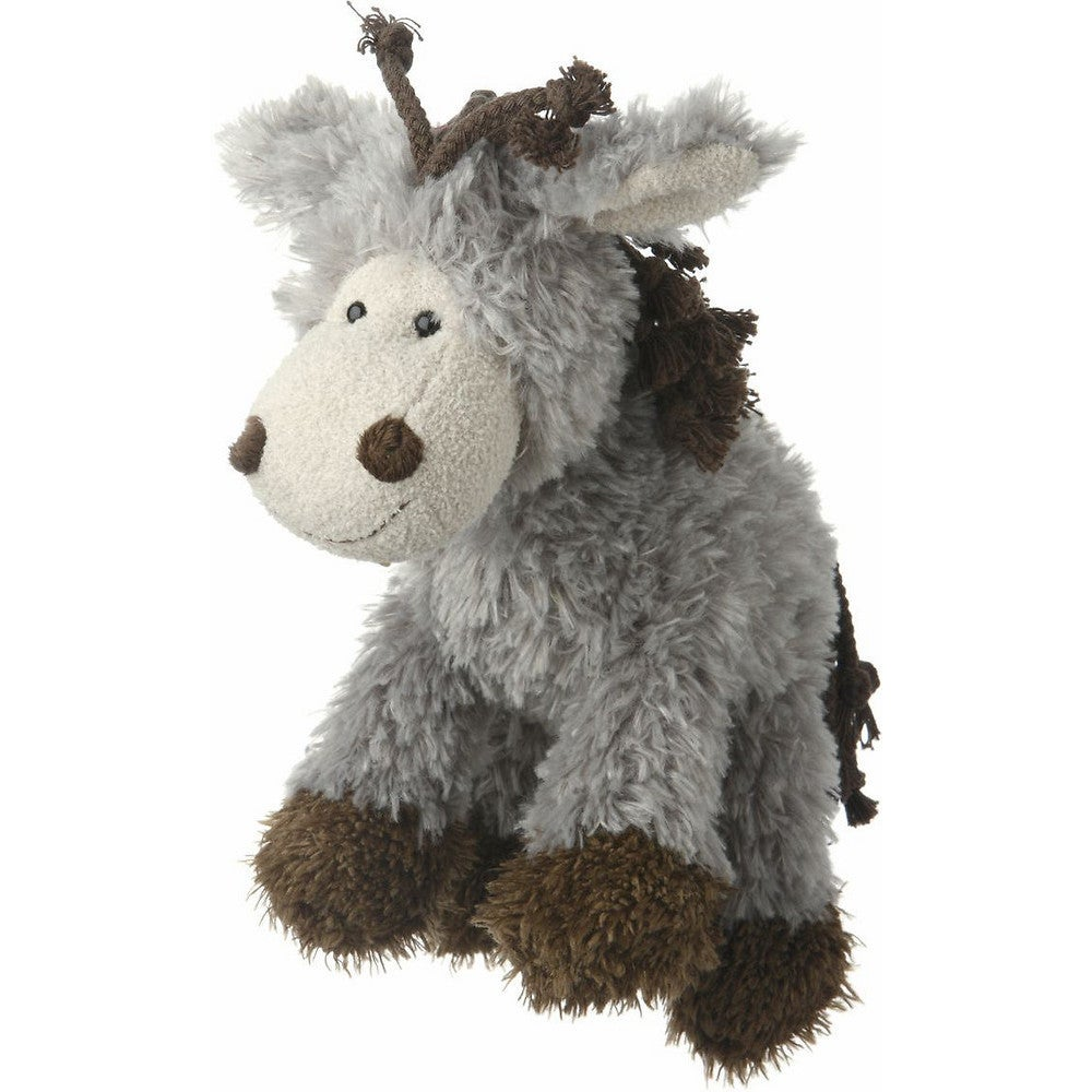 Multipet Mane Event Horse Plush Dog Toy (Donkey), Grey