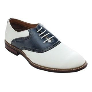 Ferro Aldo Mens 19268A Two Tone Saddle Lace Up Oxfords Dress Shoes