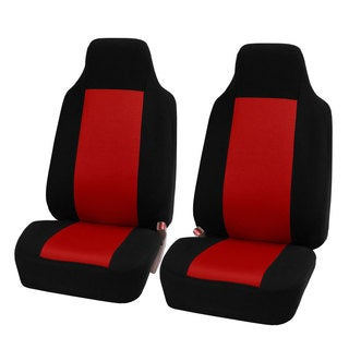 FH Group Red Fabric Universal Front Bucket Seat Covers (Set of 2)
