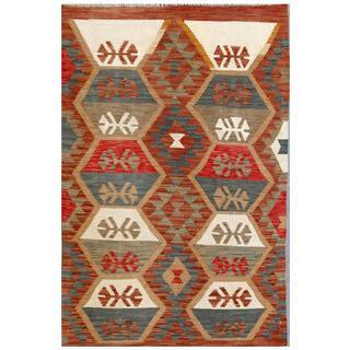 Herat Oriental Afghan Hand-woven Tribal Wool Kilim (3'3 x 4'10)
