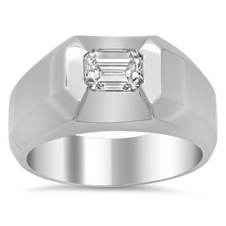 Artistry Collections 18k White Gold Men's 1 1/ 10ct TDW Diamond Ring (F-G, VS1-VS2)