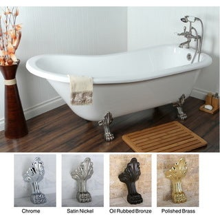 Slipper 69-inch Acrylic Clawfoot Tub