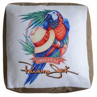 Panama Jack Parrot Pouf Ottoman
