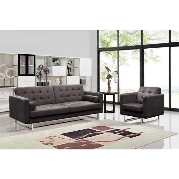 Claire Fabric Modern Sofa and Chair Set. Claire Fabric Modern Sofa and Chair Set   Free Shipping Today