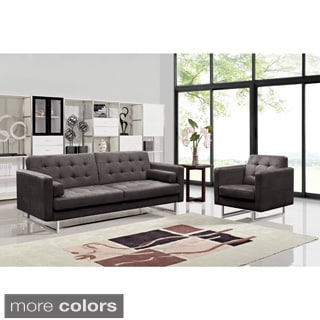 Claire Fabric Modern Sofa and Chair Set (Option: Yellow)