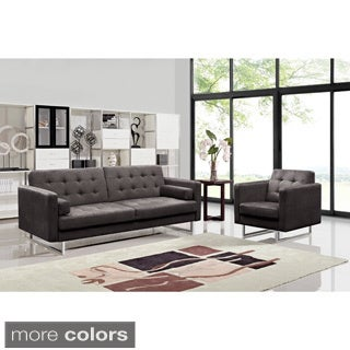 Claire Fabric Modern Sofa and Chair Set