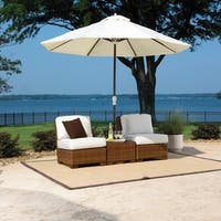Panama Jack 3-piece St. Barths Armless Set with Cushions