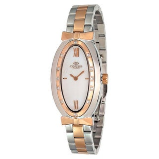 Oniss Paris Women's Zapiro Oval Collection Two-Tone Watch