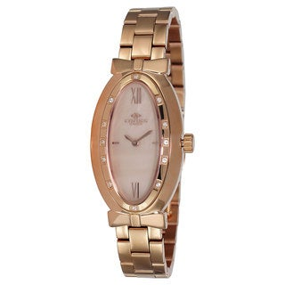 Oniss Paris Women's Zapiro Oval Collection Rosetone Watch