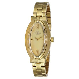 Oniss Women's Zapiro Oval Collection Godltone Watch|https://ak1.ostkcdn.com/images/products/9912952/P17071106.jpg?impolicy=medium