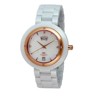 Oniss Women's Uniche Diamond Collection White Watch|https://ak1.ostkcdn.com/images/products/9912954/P17071108.jpg?impolicy=medium