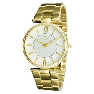 Oniss Women's Stuppendo Collection Goldtone Watch|https://ak1.ostkcdn.com/images/products/9912955/P17071110.jpg?impolicy=medium