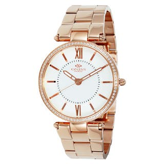Oniss Women's Stuppendo Collection Rosetone Watch|https://ak1.ostkcdn.com/images/products/9912956/P17071111.jpg?impolicy=medium