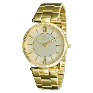 Oniss Women's Stuppendo Collection Goldtone Watch|https://ak1.ostkcdn.com/images/products/9912965/P17071109.jpg?impolicy=medium
