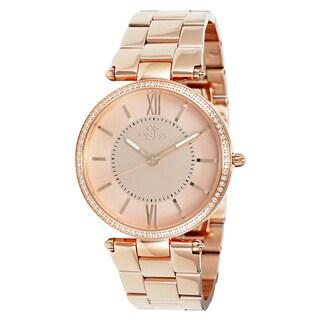 Oniss Women's Stuppendo Collection Rosetone Watch|https://ak1.ostkcdn.com/images/products/9912972/P17071112.jpg?_ostk_perf_=percv&impolicy=medium