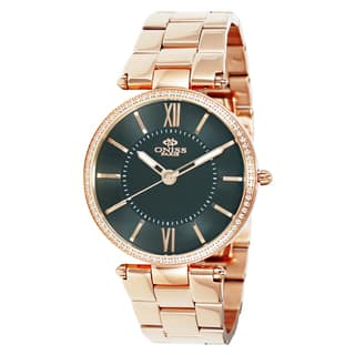Oniss Women's Stuppendo Collection Rosetone Watch|https://ak1.ostkcdn.com/images/products/9912973/P17071113.jpg?impolicy=medium