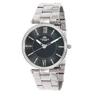 Oniss Women's Stuppendo Collection Silvertone Watch|https://ak1.ostkcdn.com/images/products/9912974/P17071114.jpg?impolicy=medium