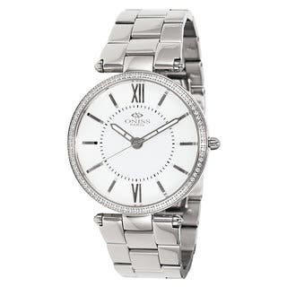 Oniss Women's Stuppendo Collection Silvertone Watch|https://ak1.ostkcdn.com/images/products/9912976/P17071115.jpg?impolicy=medium