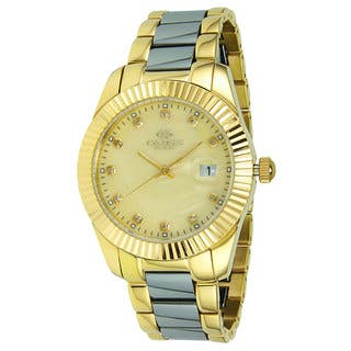 Oniss Women's Stelle Collection Two-Tone Watch|https://ak1.ostkcdn.com/images/products/9912977/P17071116.jpg?impolicy=medium