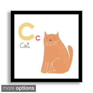 Gallery Direct Why Not Me CZ's 'C is for Cat' Framed Paper Art