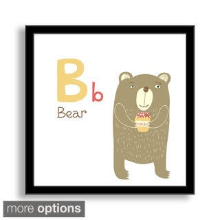 Gallery Direct Why Not Me CZ's 'B is for Bear' Framed Paper Art