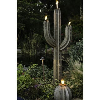 Steel 78-inch Saguaro Cactus Torch