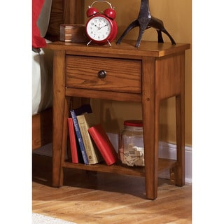 Grandpas Cabin Aged Oak Youth Nightstand