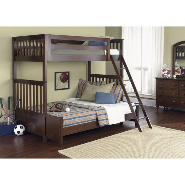 Shop Abbott Cinnamon Twin Full Bunk Bed Free Shipping Today