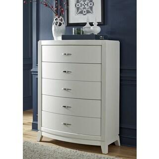 Avalon II White Truffle 5-drawer Chest