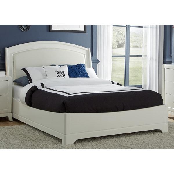 white truffle leather headboard platform bed set - Bed Frame And Headboard Set