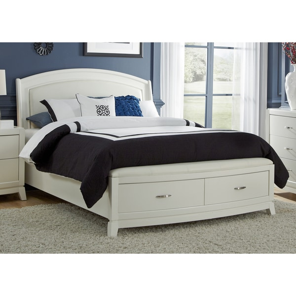 white pu leather storage platform bed set free shipping today 17071184. Black Bedroom Furniture Sets. Home Design Ideas