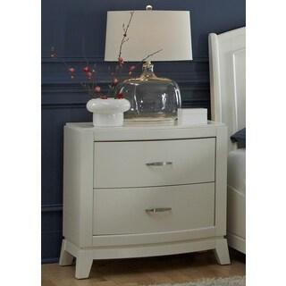 White Truffle 2-drawer Nightstand