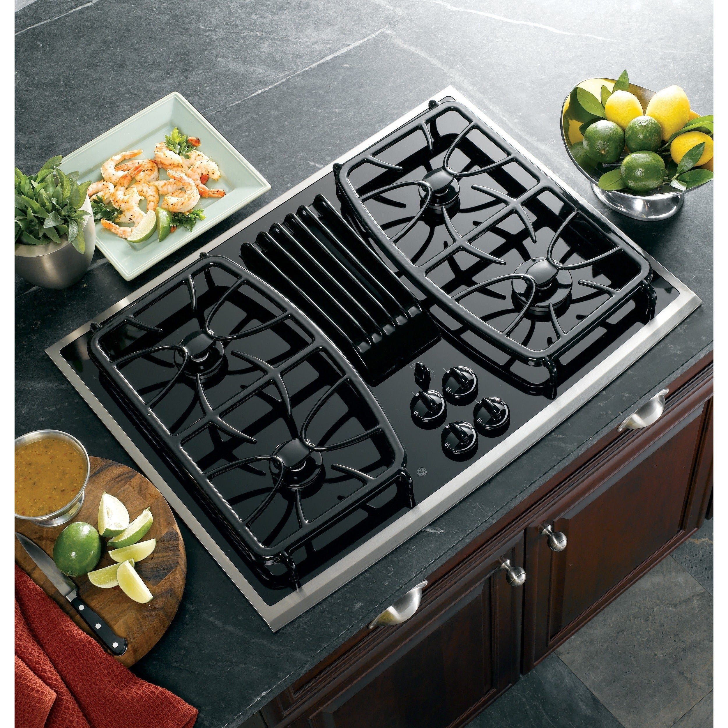30 Inch Gas Downdraft Cooktop
